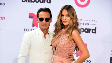 MIAMI, FL - APRIL 30: Marc Anthony and Shannon de Lima arrives at 2015 Billboard Latin Music Awards presented by State Farm on Telemundo at Bank United Center on April 30, 2015 in Miami, Florida. (Photo by Johnny Louis/FilmMagic)
