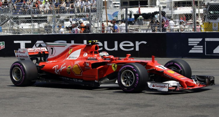 Ferrari driver Kimi Raikkonen of Finland steers his car during the qualification at the Formula One Grand Prix at the Monaco racetrack in Monaco, Saturday, May 27, 2017. The Formula 1 Grand Prix of Monaco race will take place on Sunday May 28. (AP Photo/Claude Paris)