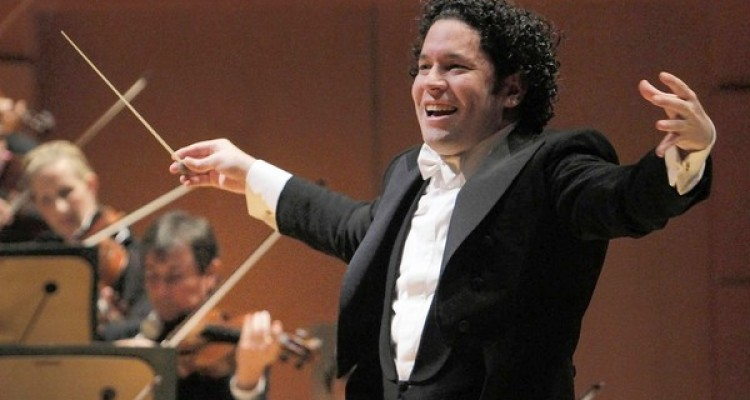"Ho, Lawrence K. ,Äì,Äì B582416078Z.1 LOS ANGELES CA. OCT. 04, 2012. Gustavo Dudamel conducting the L.A. Phil in Beethoven's ""Eroica"" Symphony at the Walt Disney Concert Hall in Los Angeles on Oct. 04, 2012. Also on the program Beethoven's Piano Concerto #1 with Leif Ove Andsnes, pianist .(Lawrence K. Ho/Los Angeles Times)"