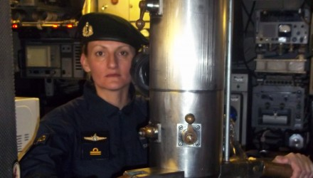 """Undated and unlocated handout picture released by Argentina's Navy showing Argentine submarinist Eliana Krawczyk onboard the Argentine ARA Salta submarine. Argentina's navy is hunting for one of its submarines which has been reported missing in the South Atlantic with a crew of 44 on board. Krawczyk, who became the first South American submariner and is aboard the missing San Juan submersible, dreamt of being an industrial engineer but a family tragedy led her to give a rudder to her life. / AFP PHOTO / ARGENTINE NAVY / HO / RESTRICTED TO EDITORIAL USE - MANDATORY CREDIT """"AFP PHOTO / ARGENTINE NAVY / HO"""" - NO MARKETING NO ADVERTISING CAMPAIGNS - DISTRIBUTED AS A SERVICE TO CLIENTS"""
